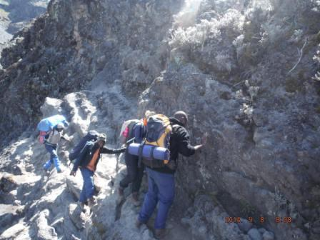 Climb to Uhuru Peak